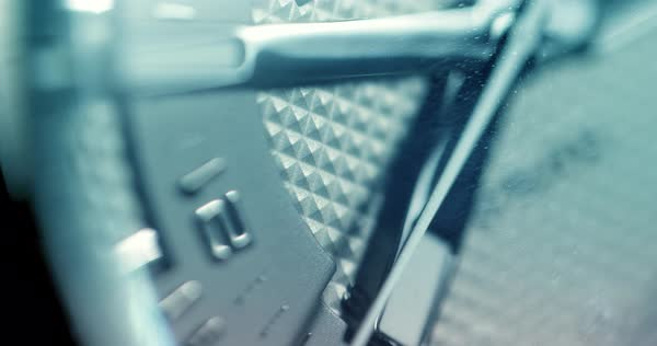 Macro shot of watch with second hand passing. Clock face rack focus. Royalty-free stock video