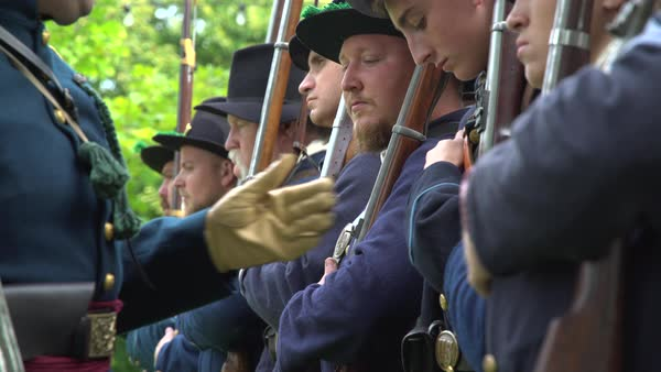 Civil War soldiers being trained Royalty-free stock video