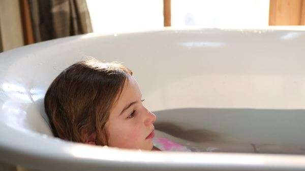 8 Year Old Girl In Bathtub Wearing A Mermaid Costume Royalty Free Stock  Video