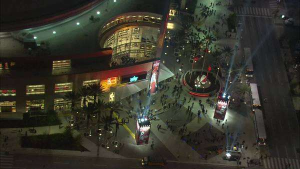 Houston Toyota Center Nighttime. A Beautiful Aerial View Of Houston, Texasu0027  Premier Events
