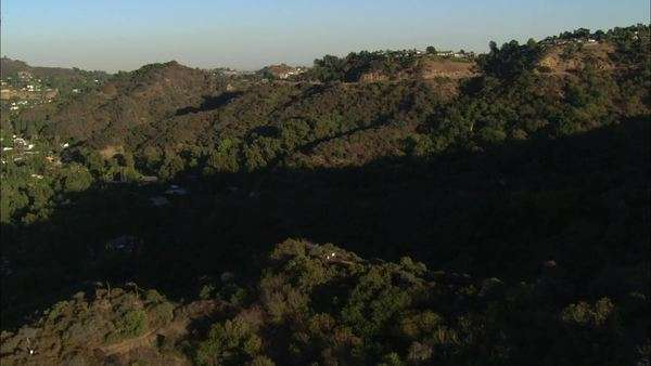 Hollywood Hills California Suburbs. Hollywood hills and the suburbs of Hollywood, California. Royalty-free stock video