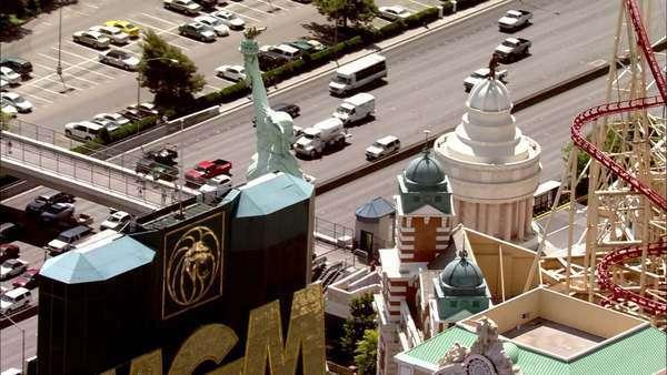 Las Vegas Strip Hotels  View of Las Vegas strip during the