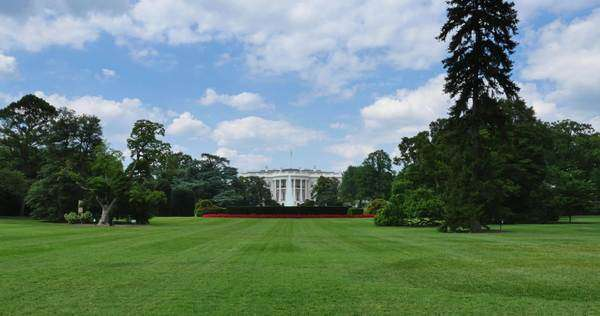 WASHINGTON, D.C. - July, 2015 - A wide shot of the White House in Washington, D.C. Royalty-free stock video