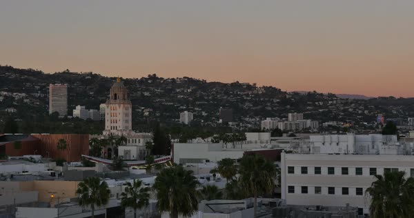 BEVERLY HILLS, CA - Circa February, 2016: A sunset timelapse over the city of Beverly Hills, California.  	 Royalty-free stock video