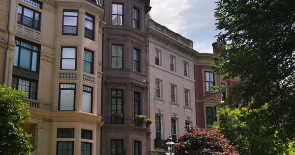 Typical residences in downtown Boston. Royalty-free stock video
