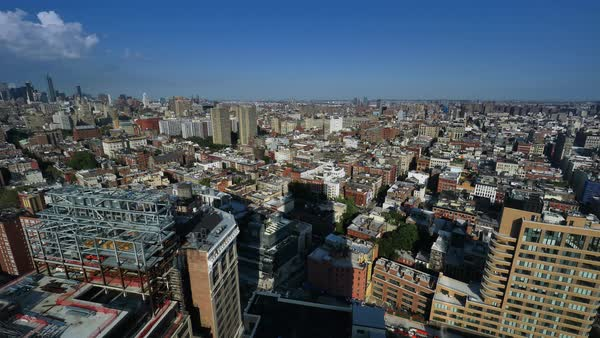 A daytime summer timelapse over SoHo in lower Manhattan.  	 Royalty-free stock video