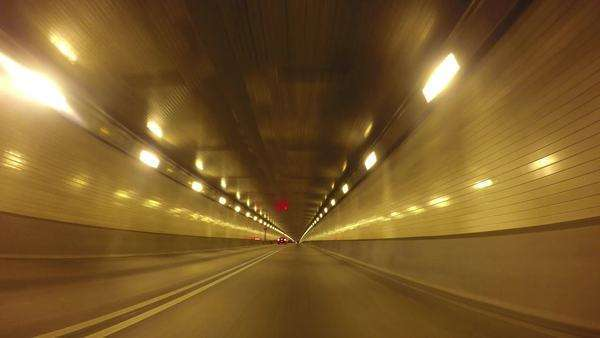 Driving inside the Fort Pitt Tunnels in Pittsburgh, Pennsylvania. Royalty-free stock video