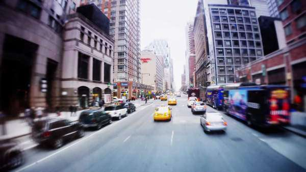 A time lapse view of a driver's perspective of driving through the streets of Manhattan. Royalty-free stock video