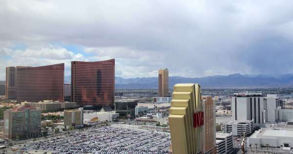 A timelapse shot of a storm approaching the Las Vegas Strip. Royalty-free stock video