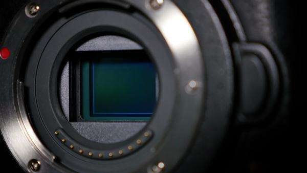 An extreme close-up of a camera's sensor. Royalty-free stock video