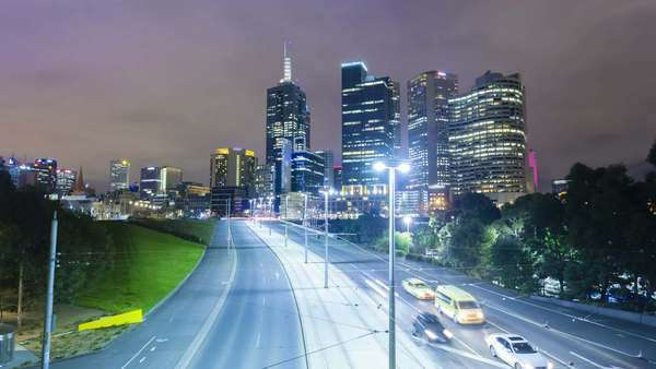 Hyperlapse video of Melbourne CBD Royalty-free stock video