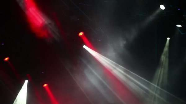Stage lights at the concert Royalty-free stock video