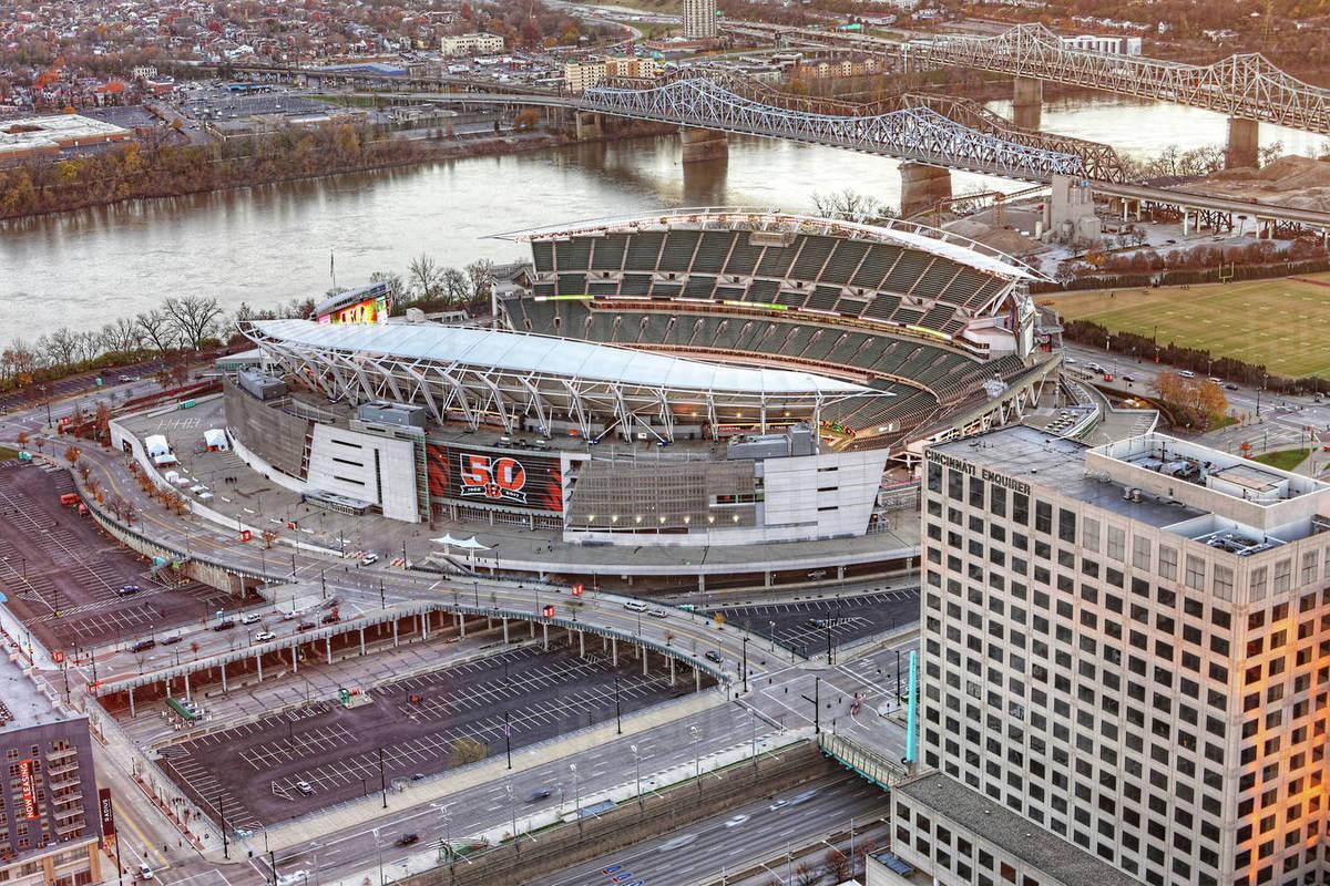 paul brown stadium in cincinnati ohio home to the cincinnati