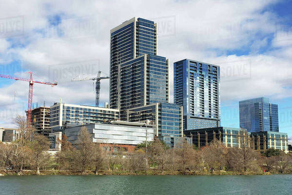 The Austin, Texas, skyline on bright day Royalty-free stock photo