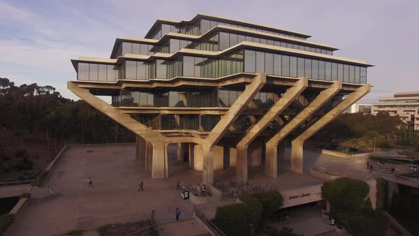 Geisel Library, University of California, San Diego campus Rights-managed stock video