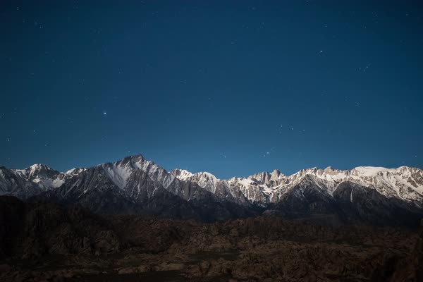 Mount whitney, eastern sierra star timelapse Rights-managed stock video