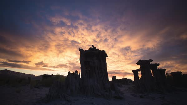 Sunset Mono Lake Timelapse Rights-managed stock video