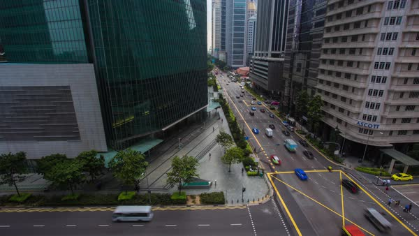 Singapore City Cars Timelapse Royalty-free stock video