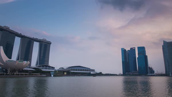 Singapore Marina Bay Sands Pan Timelapse Royalty-free stock video