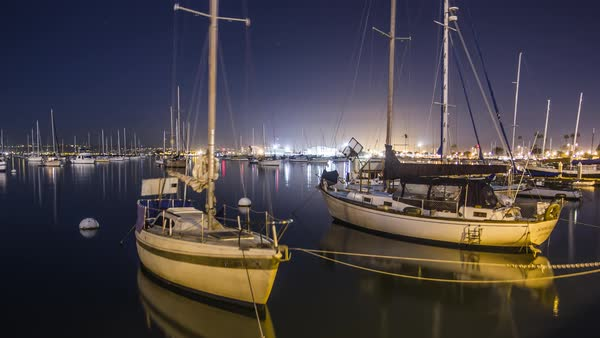 San Diego Boats Harbor Timelapse Royalty-free stock video