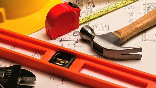 Various construction and DIY home improvement tools Royalty-free stock video