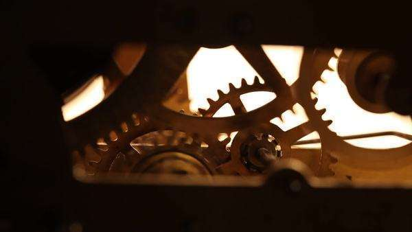 Close-up of an internal†clock†mechanism Royalty-free stock video