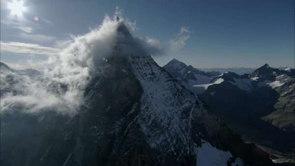 Aerial shot of the Matterhorn in the Alps Royalty-free stock video
