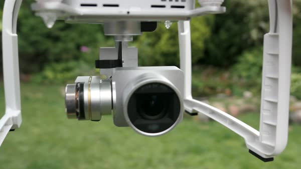Drone quadcopter camera gimbal operating Royalty-free stock video