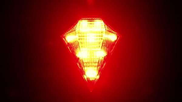 Flashing red signal lamp for a bicycle Royalty-free stock video