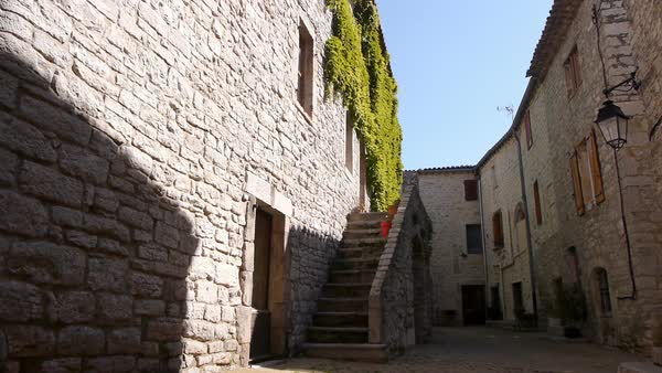Little old medieval street, France Royalty-free stock video
