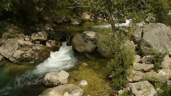 Wild river at Cote D'Azur, South France Royalty-free stock video