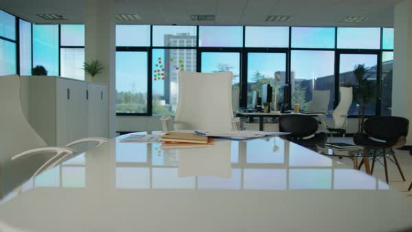 Interior View Of Modern Office With Lots Of Natural Light Royalty Free  Stock Video