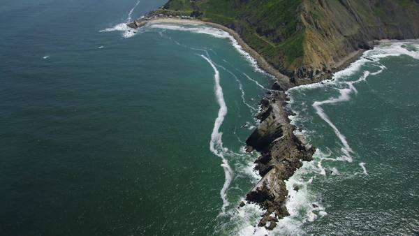 Aerial view of California Coastline along the Big Sur. USA Pacific blue ocean. Royalty-free stock video