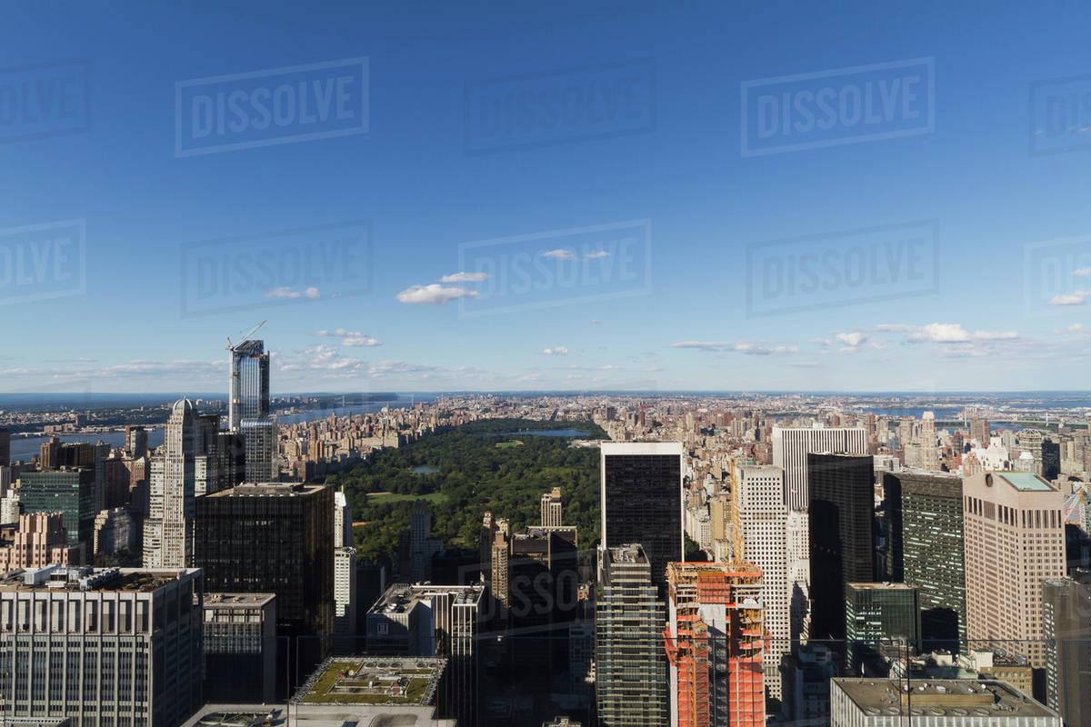 Central Park As Seen From Rockefeller Center New York City New