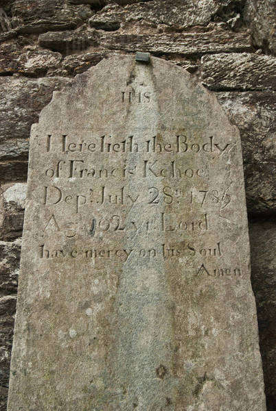 Inscription On An Old Tombstone; Ireland Royalty-free stock photo