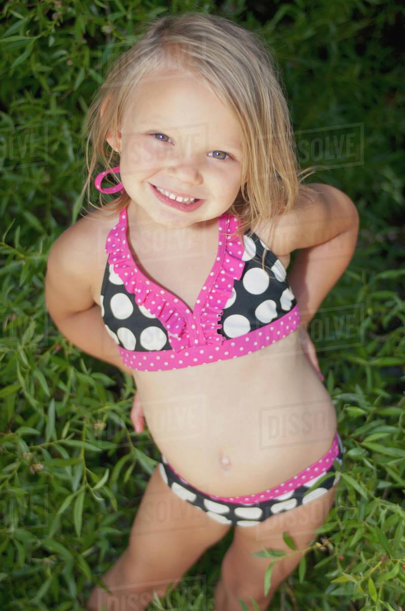 Young little girls in bikinis apologise