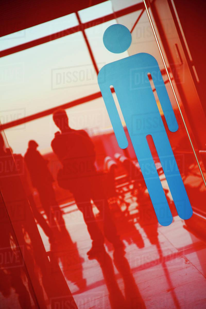 Mens Room Symbol In Airport Beijing China Stock Photo Dissolve