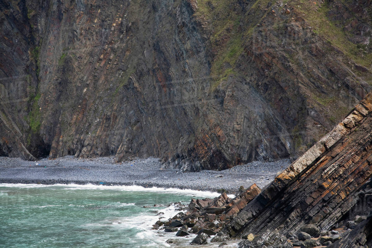 Rock Bedding In The Peninsula At Hartland Point Hartland Devon