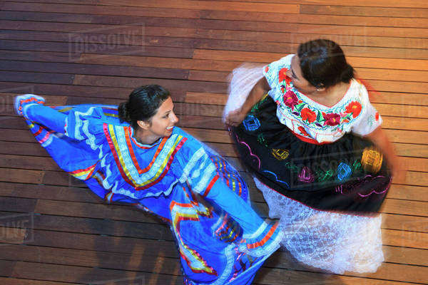 d128226885ca8 Hispanic Women Dancing In Traditional Folkloric Dresses Guaycura Boutique  Hotel And Spa; Todos Santos,