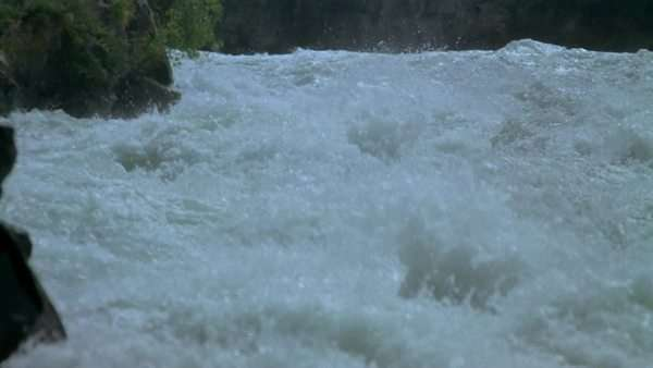 White water rafting on the Shotover River, Otago, New Zealand. Rights-managed stock video