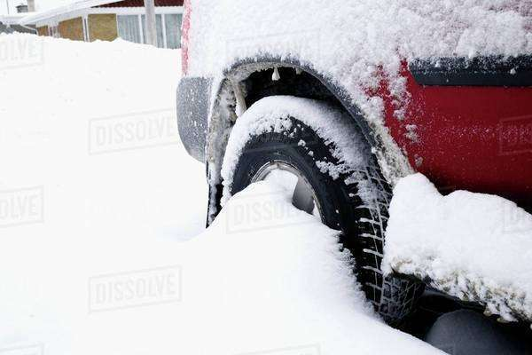 Vehicle Stuck In The Snow Royalty-free stock photo