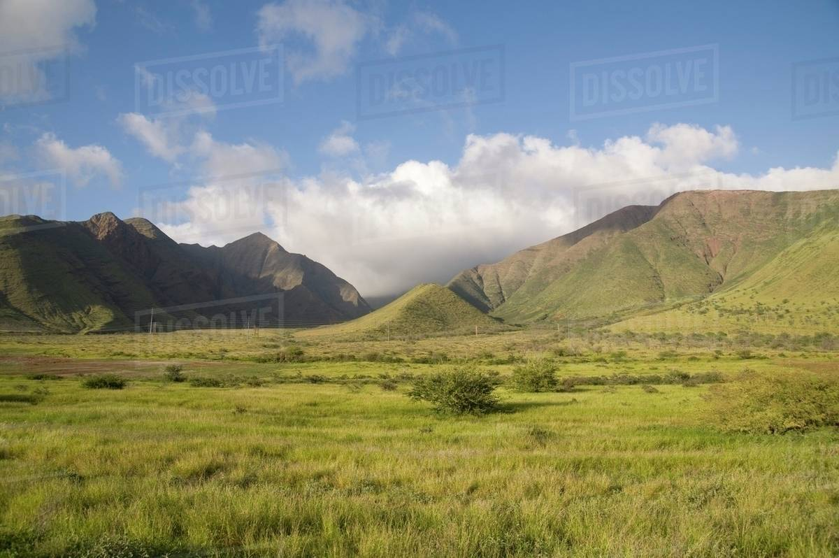 Maui Hawaii Usa Hawaiian Landscape Stock Photo Dissolve