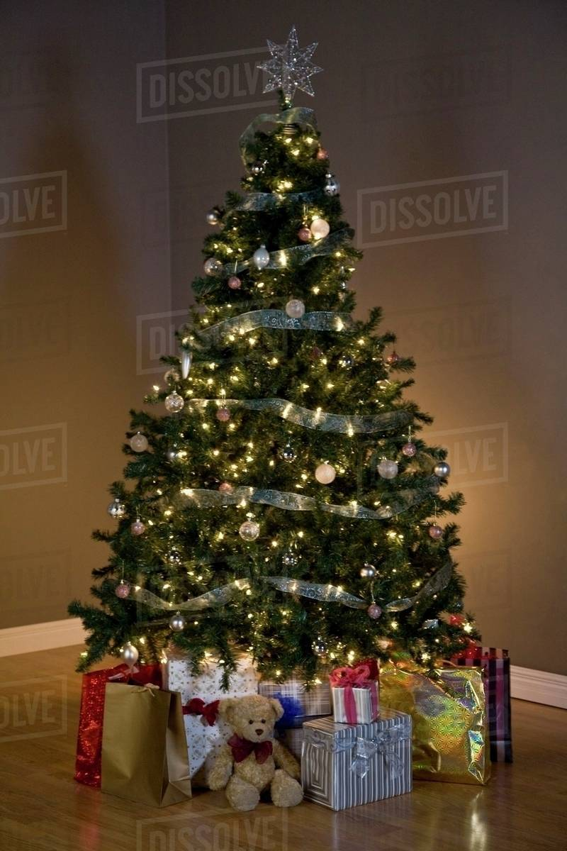 Christmas Tree With Presents Stock Photo Dissolve