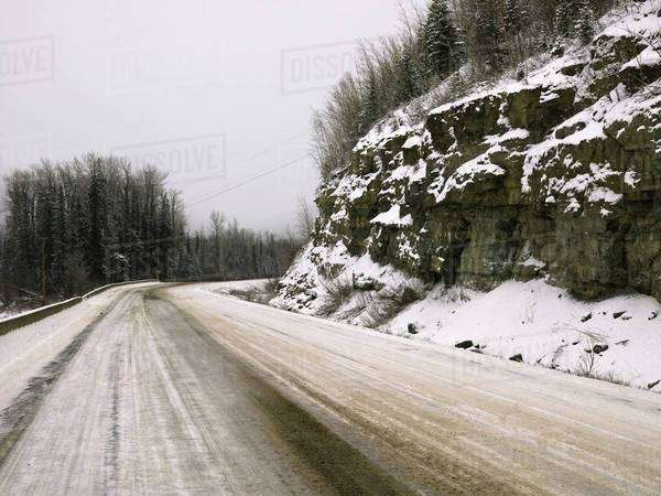 Winter Road Royalty-free stock photo