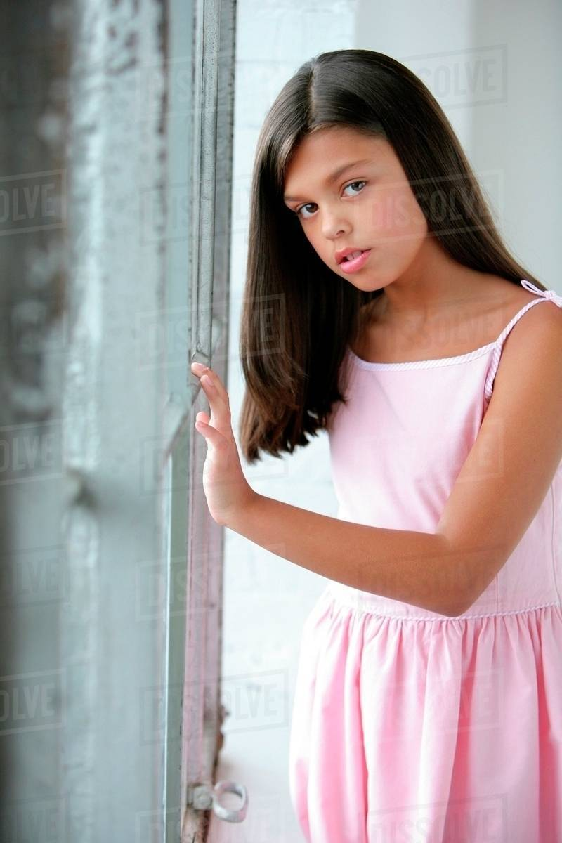 Portrait Of A Preteen Girl - Stock Photo - Dissolve-3559