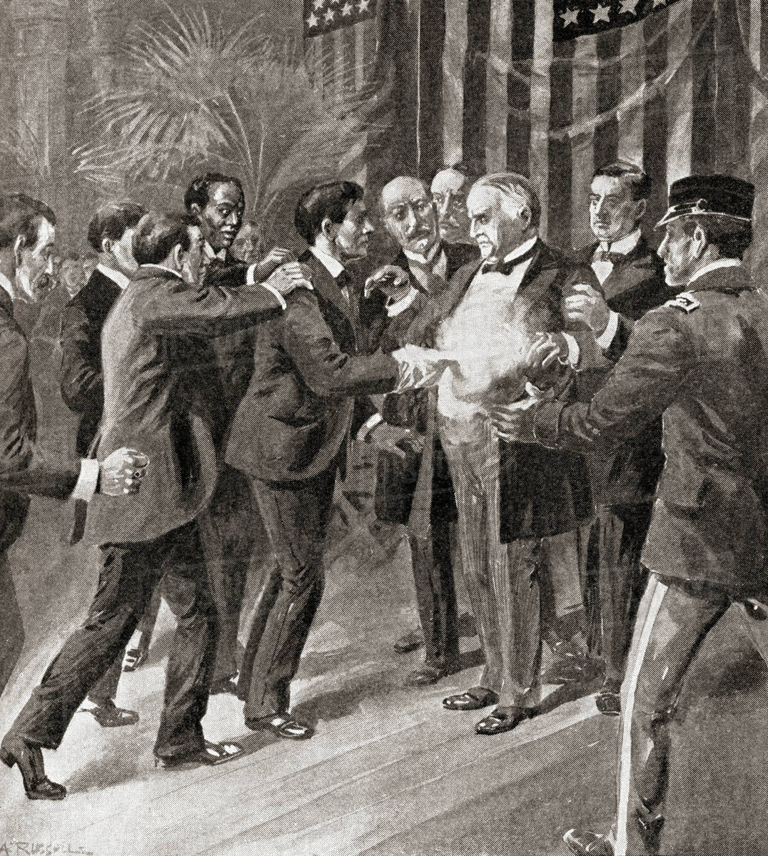 The assassination of President McKinley in 1901 by Leon ...