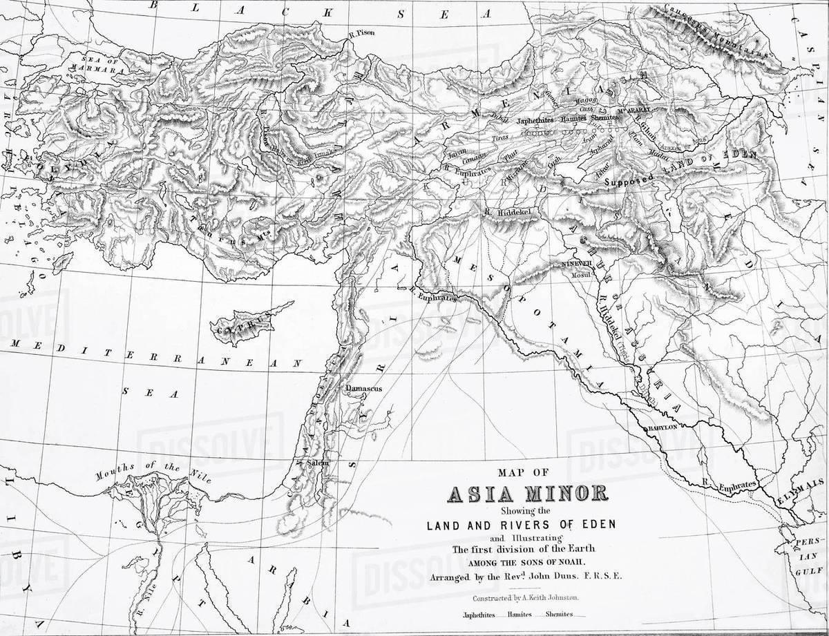 Bible Map Of Asia Minor.The Self Interpreting Family Bible Brown Rev John Circa 1880
