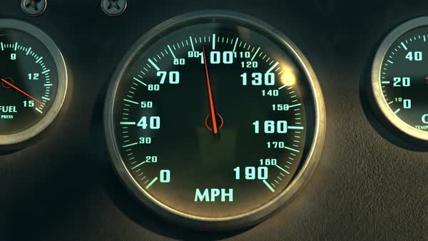 Seamless Animation Of Speedometer Fast Car Automobile Speed Dashboard Accelerate Royalty-free stock video