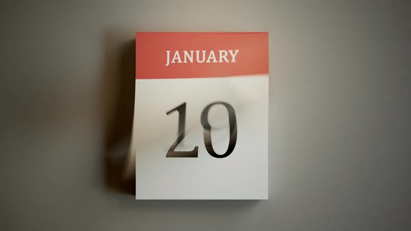 Top shot showing year calendar with fast flipping pages Royalty-free stock video