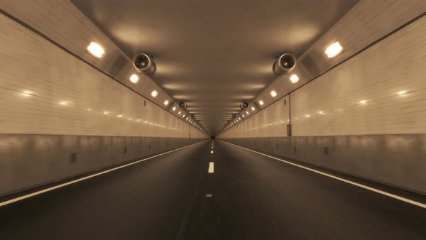 Loopable shot whith camera passing through the tunnel Royalty-free stock video